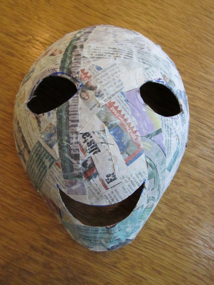 Papier mache masks using balloons