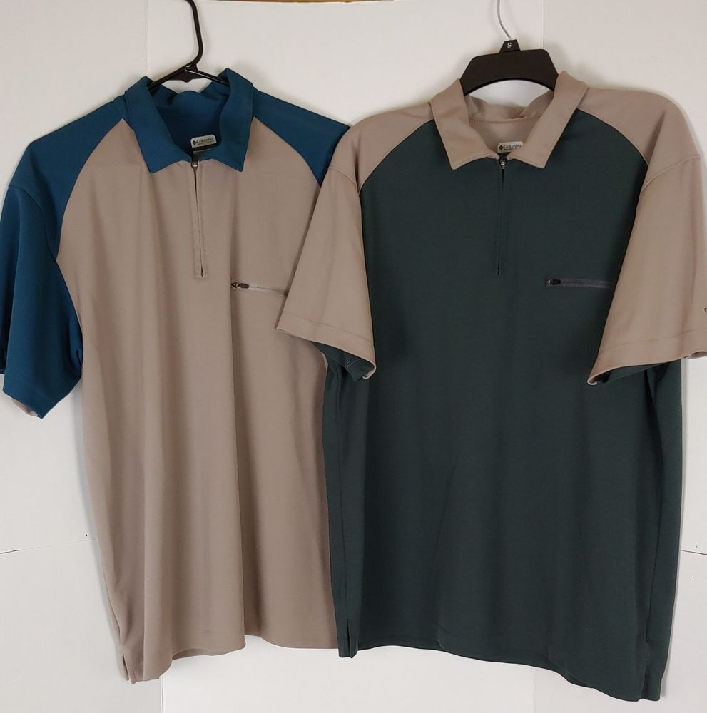 1a3d8b653d3 Columbia Titanium Men's L Polo Shirt Set Of 2 B03-02 #Columbia #Polo ...