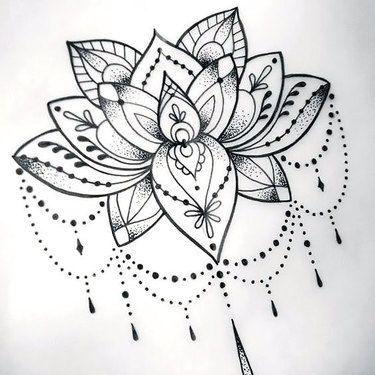 71 elegant tattoo designs for women cool dotwork lotus tattoo design mightylinksfo
