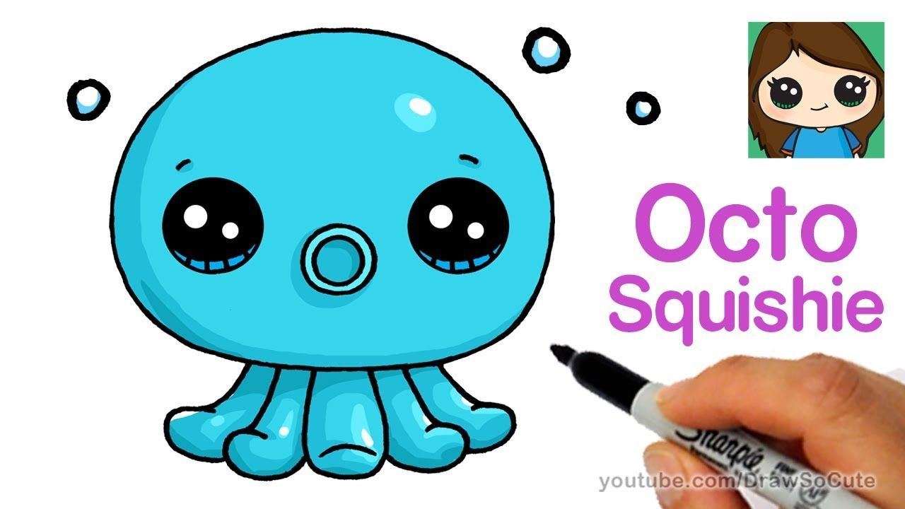 how to draw an octopus easy  octo squishies  drawing