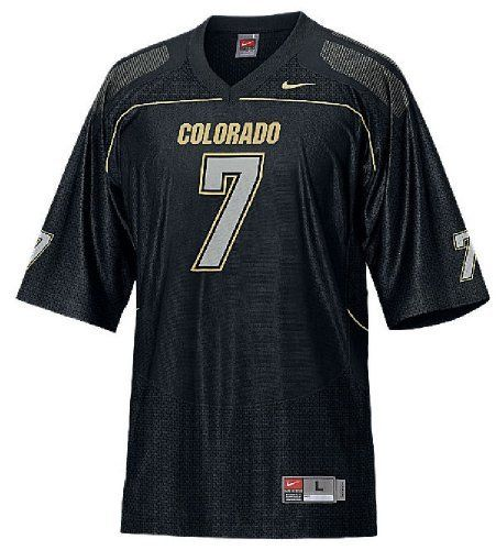 81bce4710 Colorado Buffaloes Youth  7 Home College Replica Football Jersey (L 16-18)  by Nike