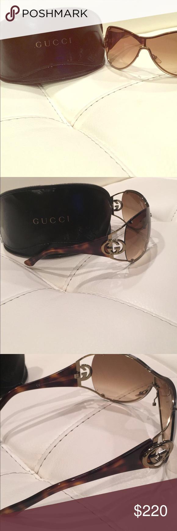 6b6cdb2b605 Gucci GG 2802 S Golden brown women sunglasses Pre-owned Gucci golden brown  gradient