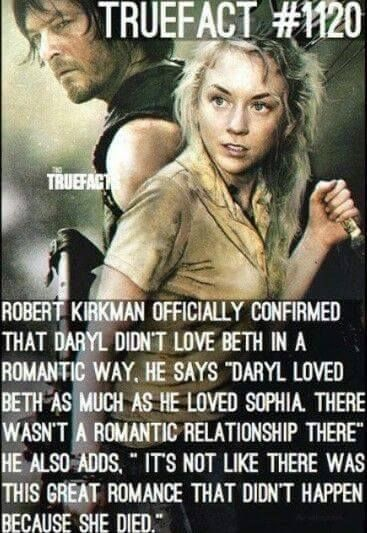 Does daryl from walking dead hook up with anyone