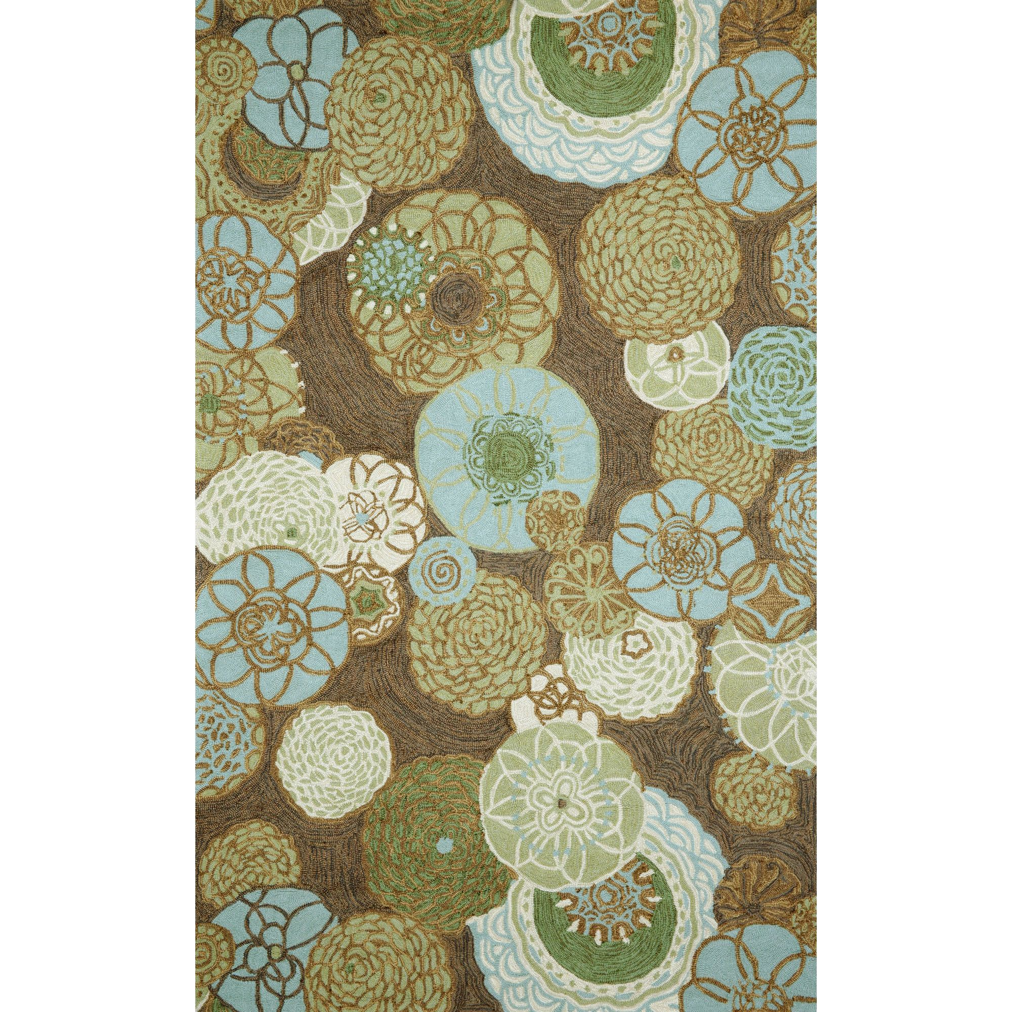 Trans Ocean 2064 19 Ravella Disco Driftwood Indoor Outdoor Rug Csn Stor Floral Rug Synthetic Rugs Outdoor Rugs