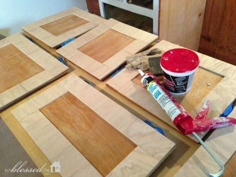 How To Update Kitchen Cabinet Doors On A Dime! #cabinetrefac…
