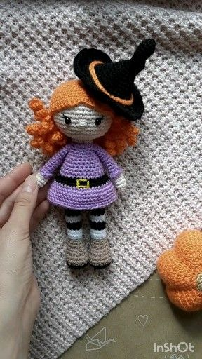 Photo of CROCHET PATTERN: Halloween Doll