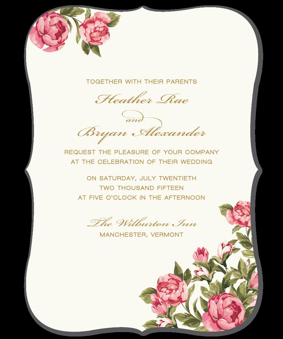 Wedding Invitation Sample - Peonies by Papela | wedding | Pinterest ...