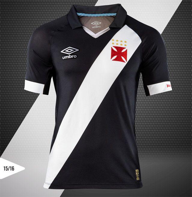 ee28f4a777192 Camisas do Vasco 2015-2016 Umbro Titular Rio 450 anos