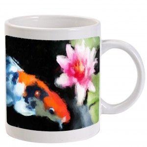 koi art coffee mug