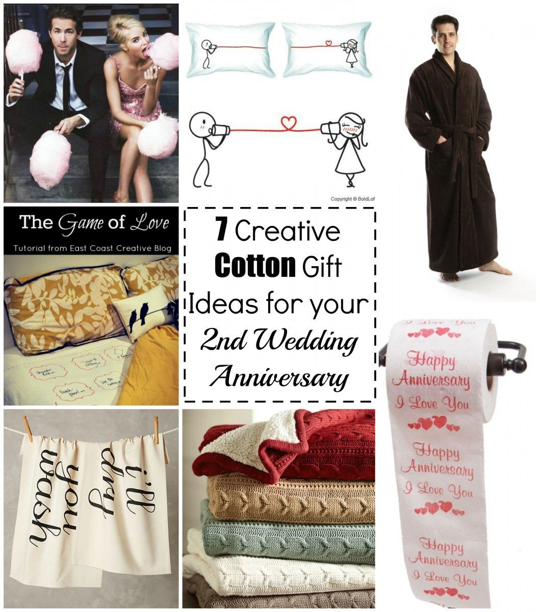 2nd Wedding Anniversary Gifts Uk: 7 Creative Cotton Gift Ideas For Your 2nd Wedding