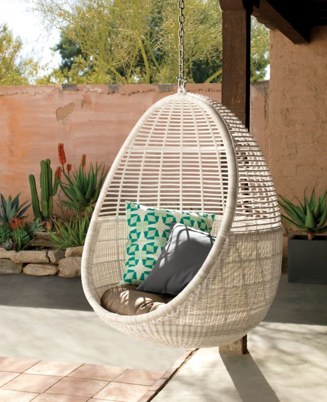 Pod Hanging Chair Cushion Hanging Chair Upholstered Swivel