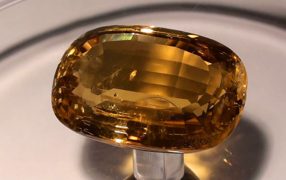 Goldberyll Minas Gerais Brasilien 55,5ct. mit Video  !!!