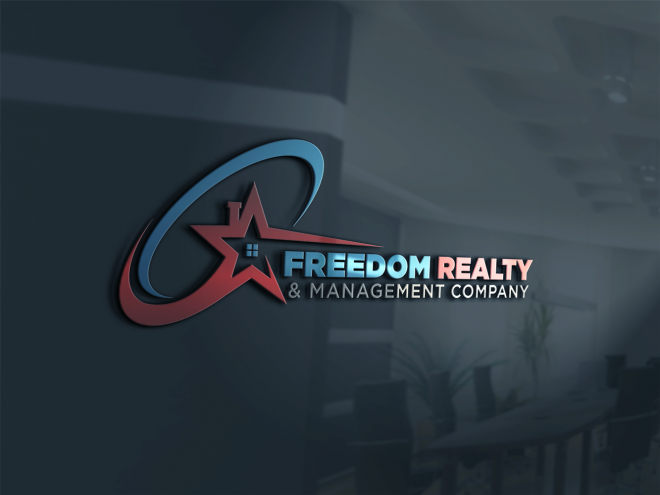 Freedom Realty Management Company Contest Design Business Card Design