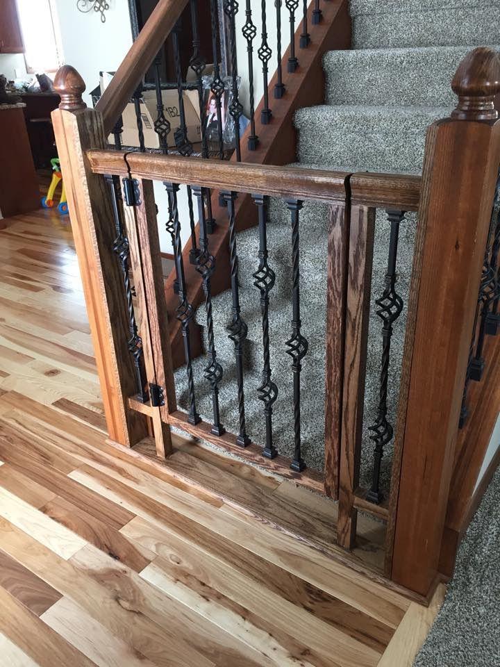 Beautiful if you gave rod iron rails diy baby gate dog