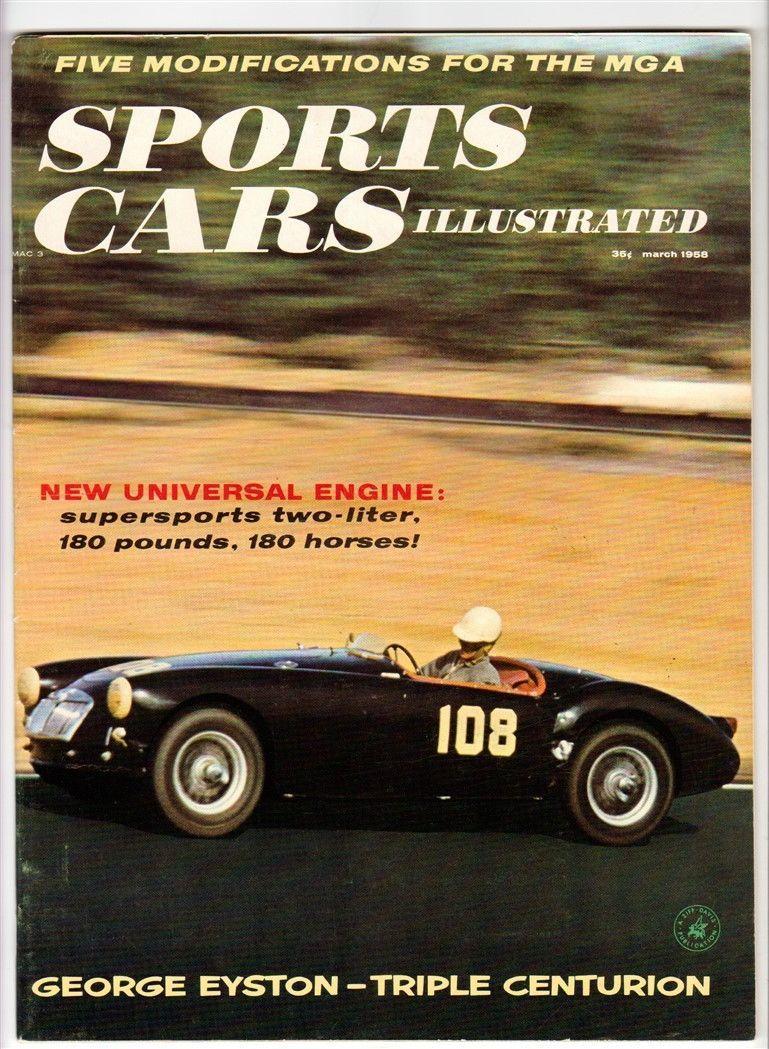 sports-cars-illustrated-mar-1958-vtg-racing-eyston-mga-fury-tr3 ...