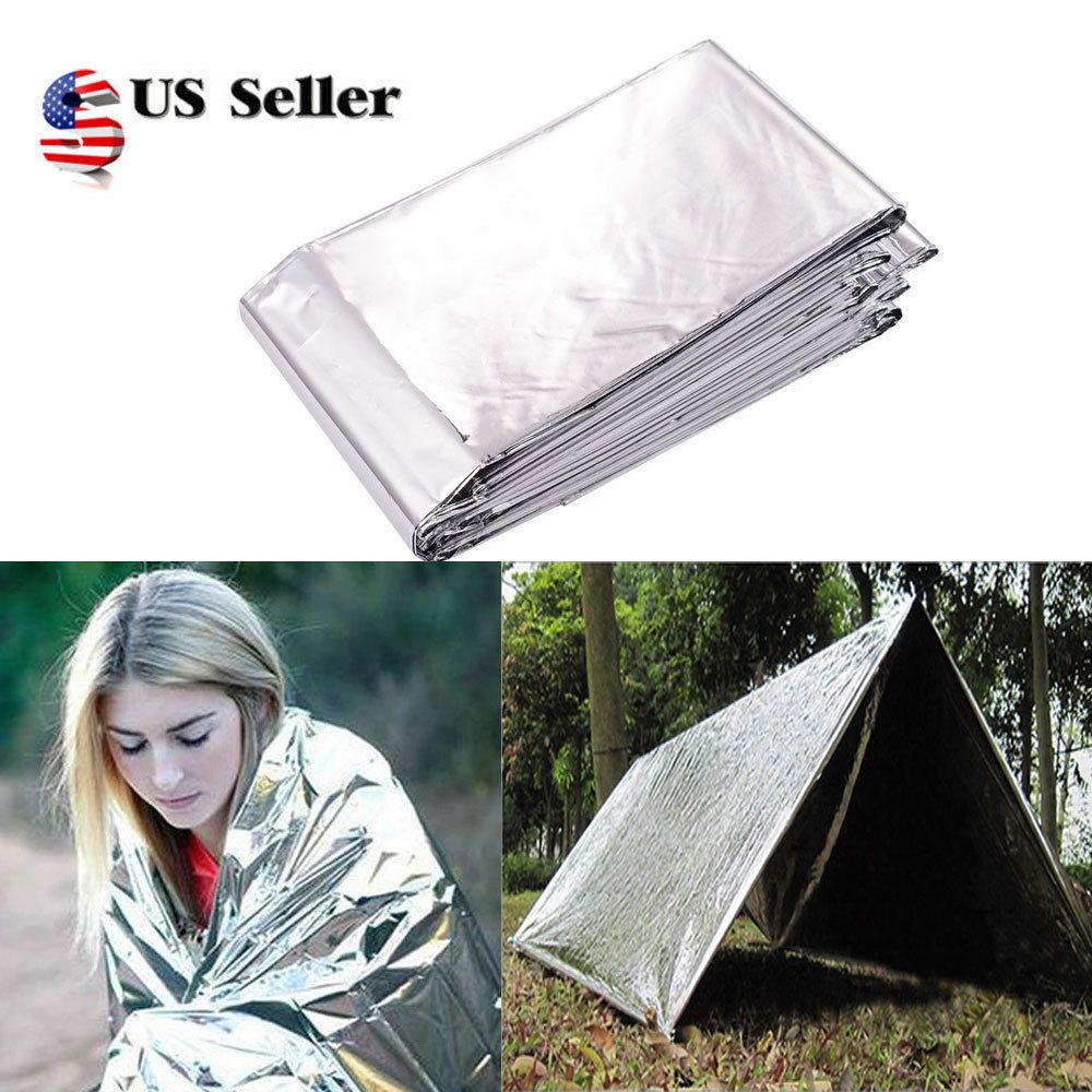 Outdoor Emergency Tent Blanket Sleeping Bag Foil Survival Camping Shelter