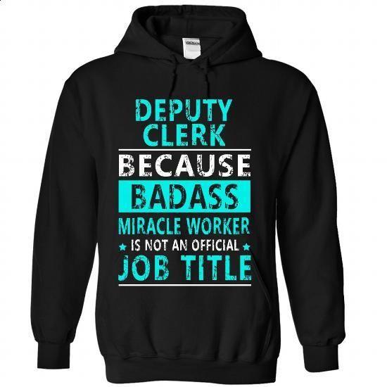 Deputy Clerk - #checkered shirt #hipster sweatshirt. ORDER NOW => https://www.sunfrog.com//Deputy-Clerk-3177-Black-Hoodie.html?68278