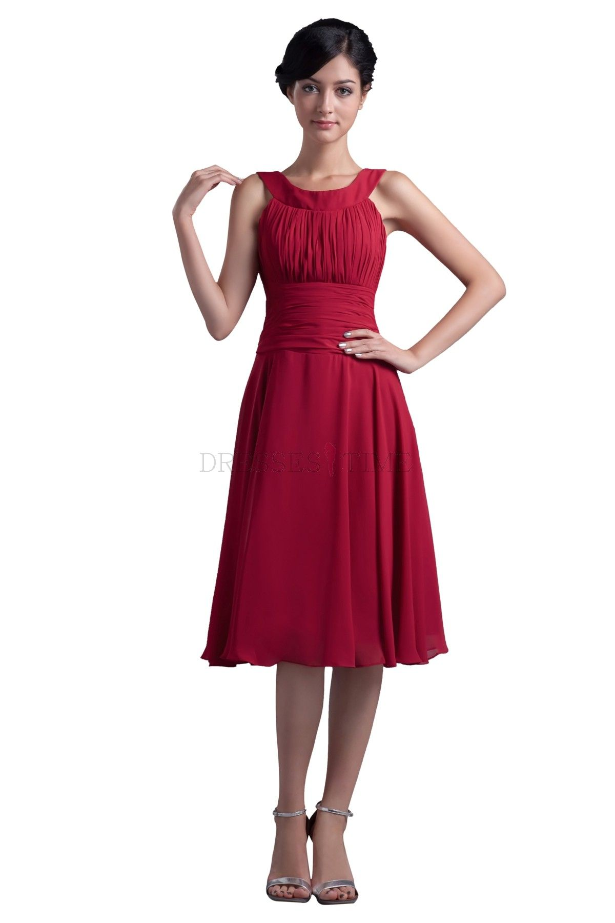 Modest dresses for women below the knee knee length wine chiffon modest dresses for women below the knee knee length wine chiffon bridesmaid dress wedding ombrellifo Images
