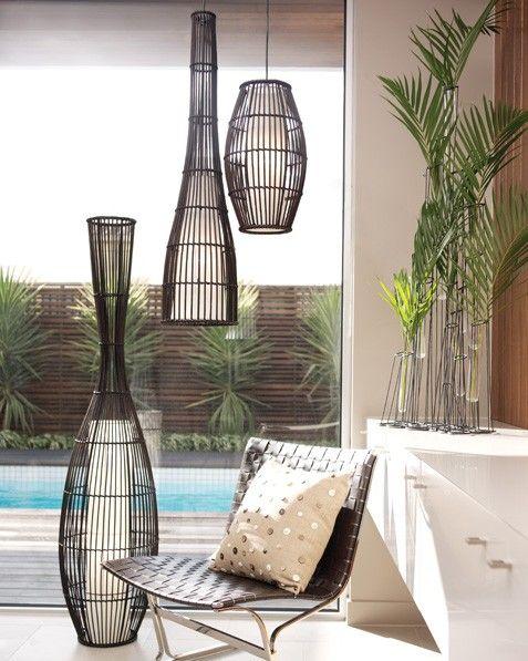 Trinidad Large Club Floor Lamp In Dark Wengee Finish Beacon Lighting Floor Lamp Lighting