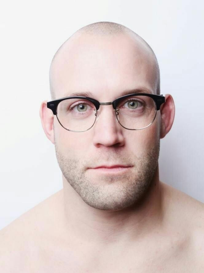 ad45d81b68 Looking cool bald with those glasses!