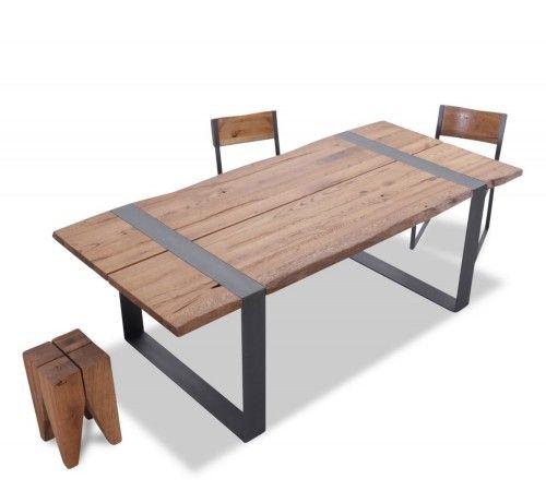 Wood premium tisch loft in eiche mit baumkante und for Tisch iphone design
