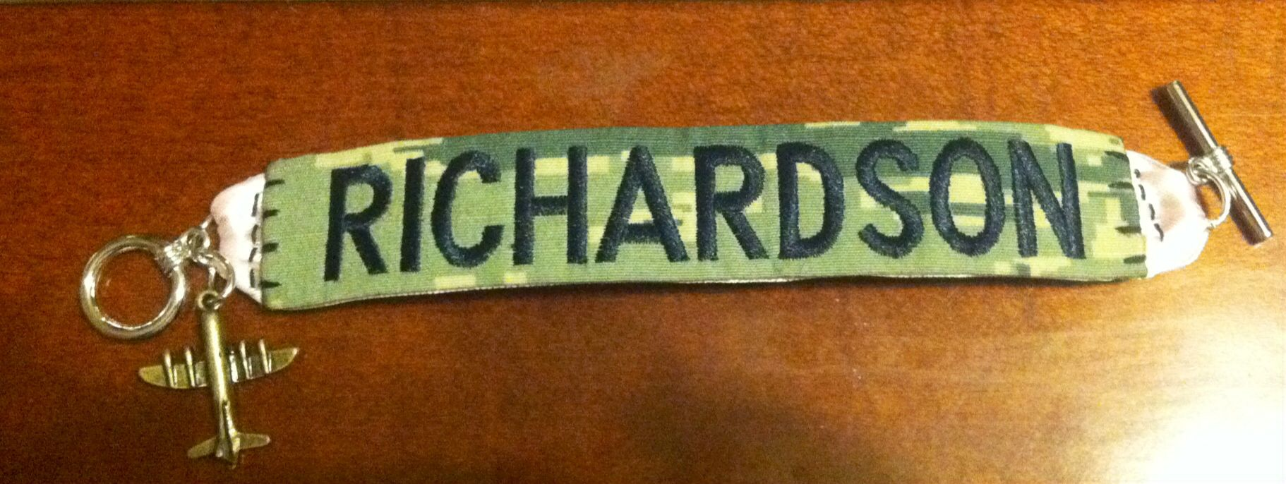 Name tape bracelet airforce Air force, Personalized
