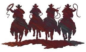 Image Result For Cowboy Metal Art Silhouettes Western Wall Decor