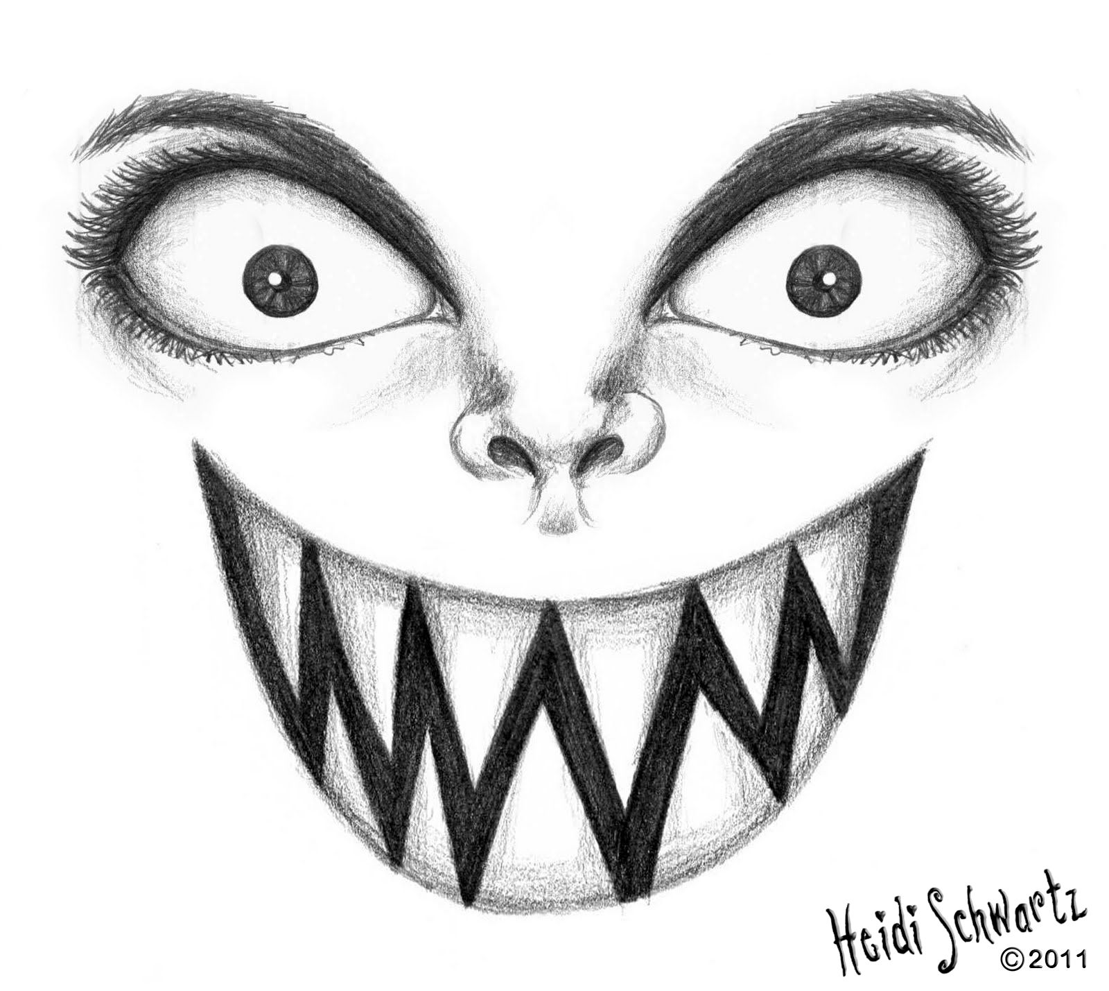 easy creepy pencil drawings - photo #33