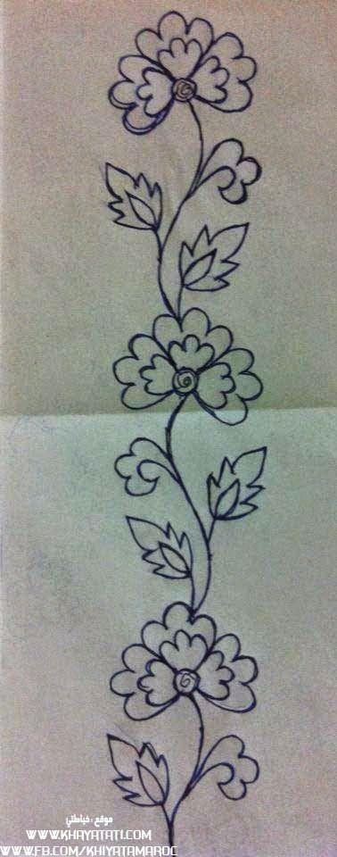 Motivo floral, risco bordado | Patrones de bordado | Pinterest ...