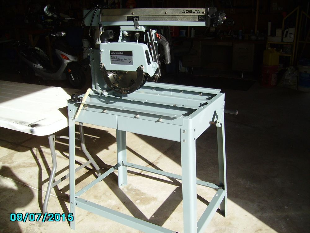 Delta deluxe radial arm saw 33-990 10 RARE NEW old stock 2HP