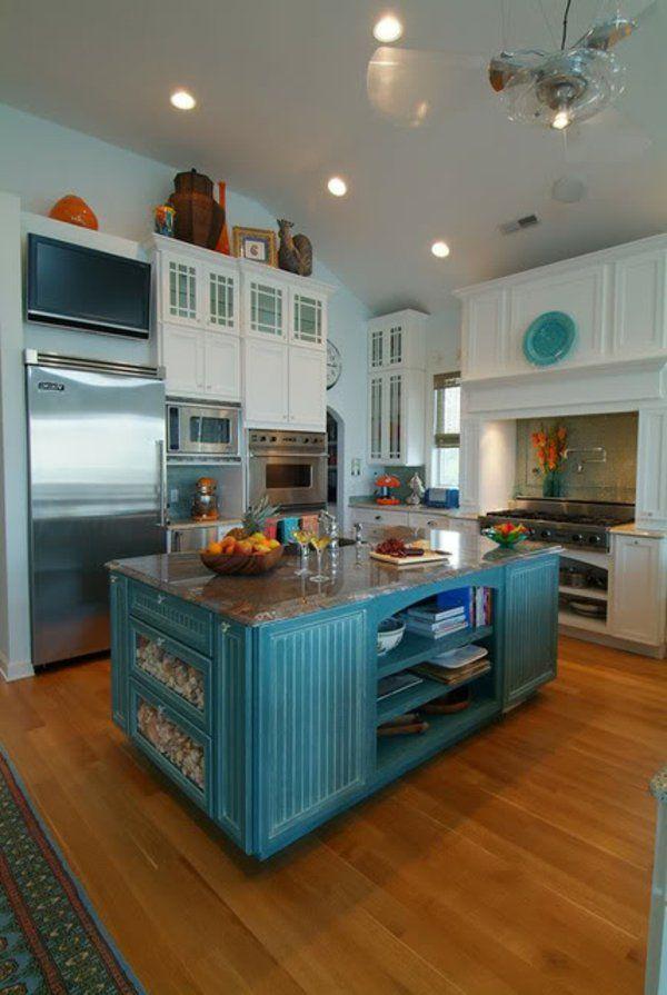 simple ilot central bleu dcoration et peinture with ilot centrale ikea. Black Bedroom Furniture Sets. Home Design Ideas