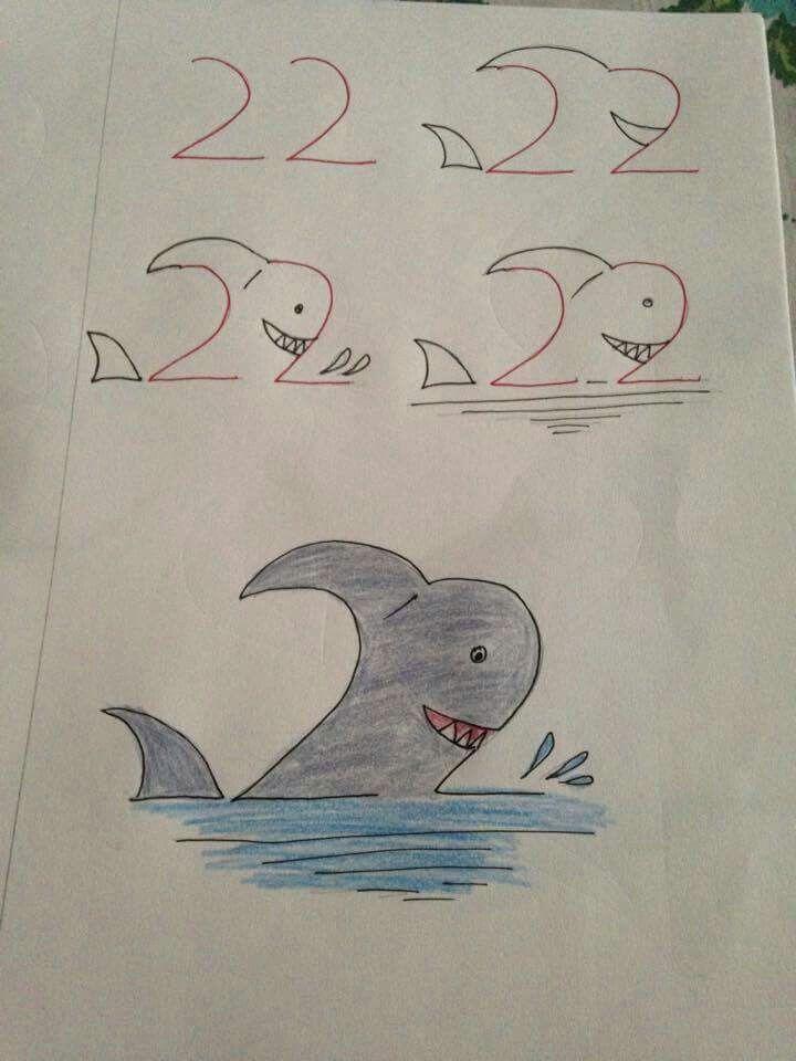 Drawing Numbers Tiere Malen Pinterest Dibujos Faciles Dibujos