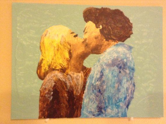 Acrylic knife on panel canvas by MauvelousJoy on Etsy