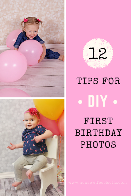 Tips For A Perfect Diy 1 Year Old Photo Shoot Housewife Eclectic 1st Birthday Photos First Birthday Photos Birthday Photoshoot