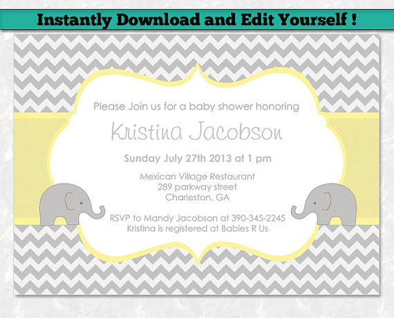 Editable Baby Shower Invitation Template