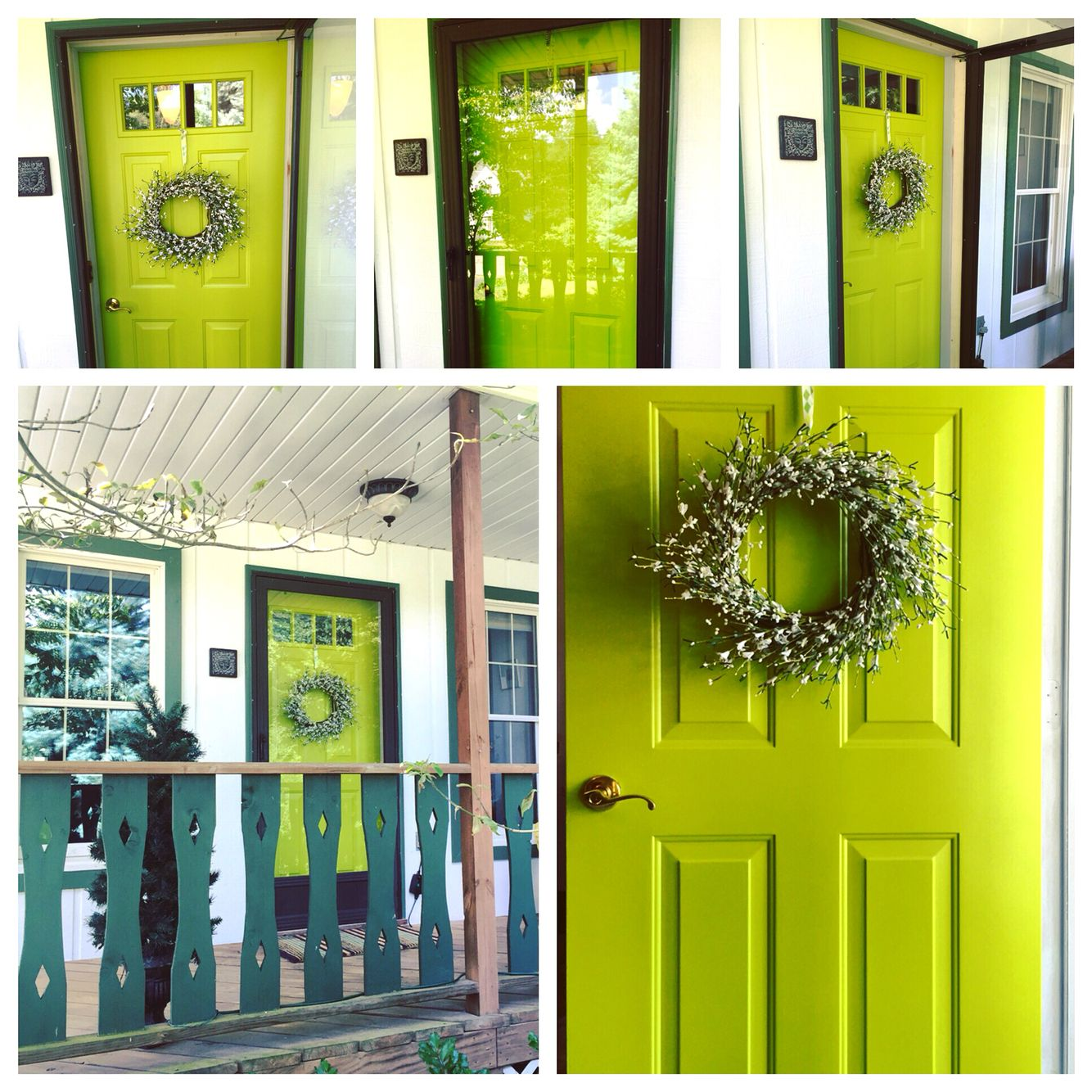 Updated our front door with new paint in Humorous Green by
