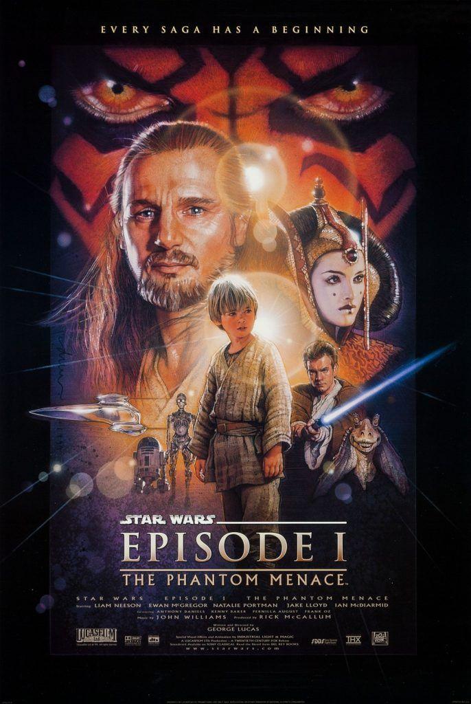 Star Wars Episode I The Phantom Menace 1999 Izle Yildiz Savaslari Star Wars Poster Yildiz
