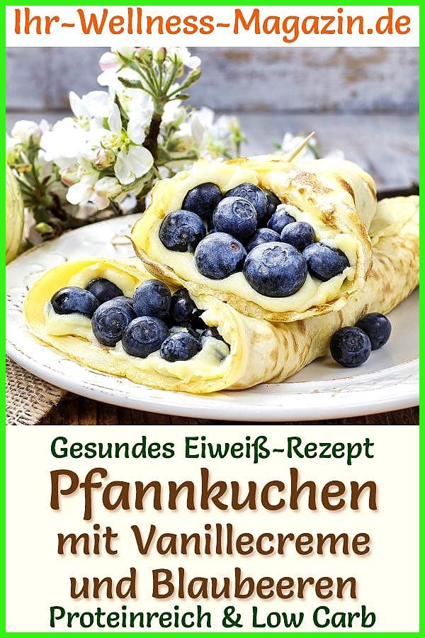 Gefüllte Protein-Pfannkuchen – Low-Carb-Eiweiß-Pancake-Rezept #Fitness food gain #Fitness food mitta...