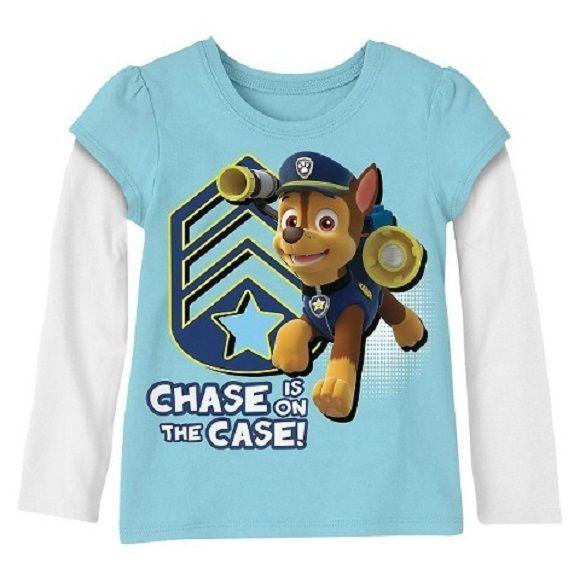 BRAND NEW Boys  PAW Patrol Short Sleeve Printed T-Shirt Blue Navy