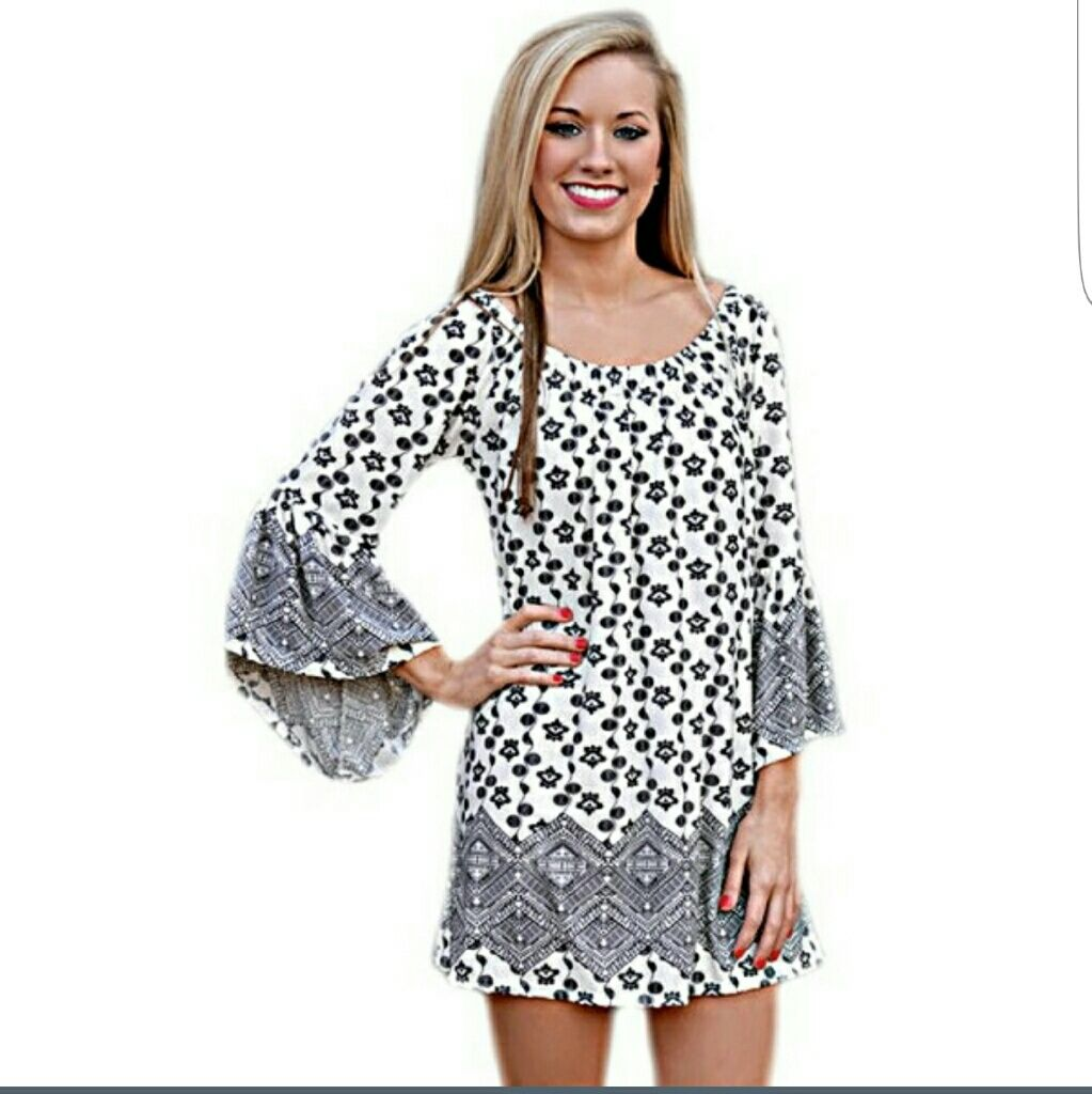 Cute Bell Sleeve Dress