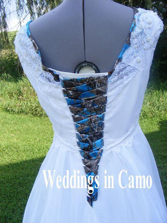 Camo Corset Ties Camo Wedding Dress Camo Prom Dress Camo