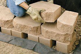 Building A Landscape Block Retaining Wall Home Depot Building