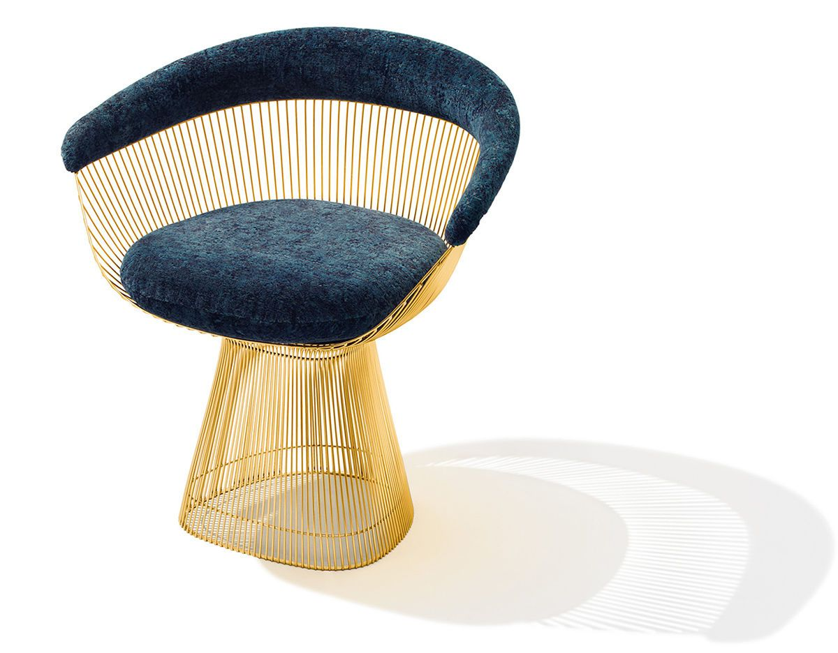 platner furniture. Warren Platner Gold Plated Arm Chair For Knoll Furniture