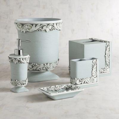 Leigha Blue Bathroom Accessories