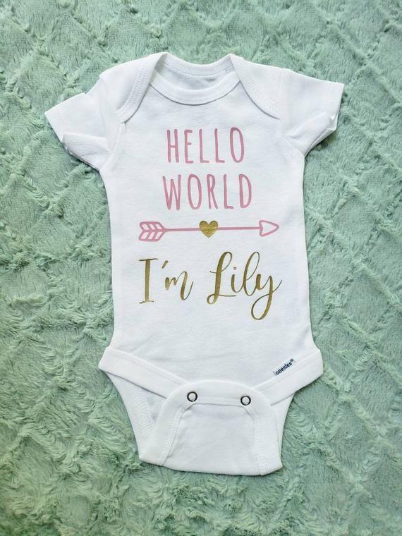 Hello world onesie #onesie #helloworld #babyonesie #babyclothes #babyannouncement