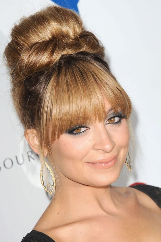 Beehive Hair Updo With Fringe Google Search Thin Hair Updo Hair Styles Hairstyles With Bangs