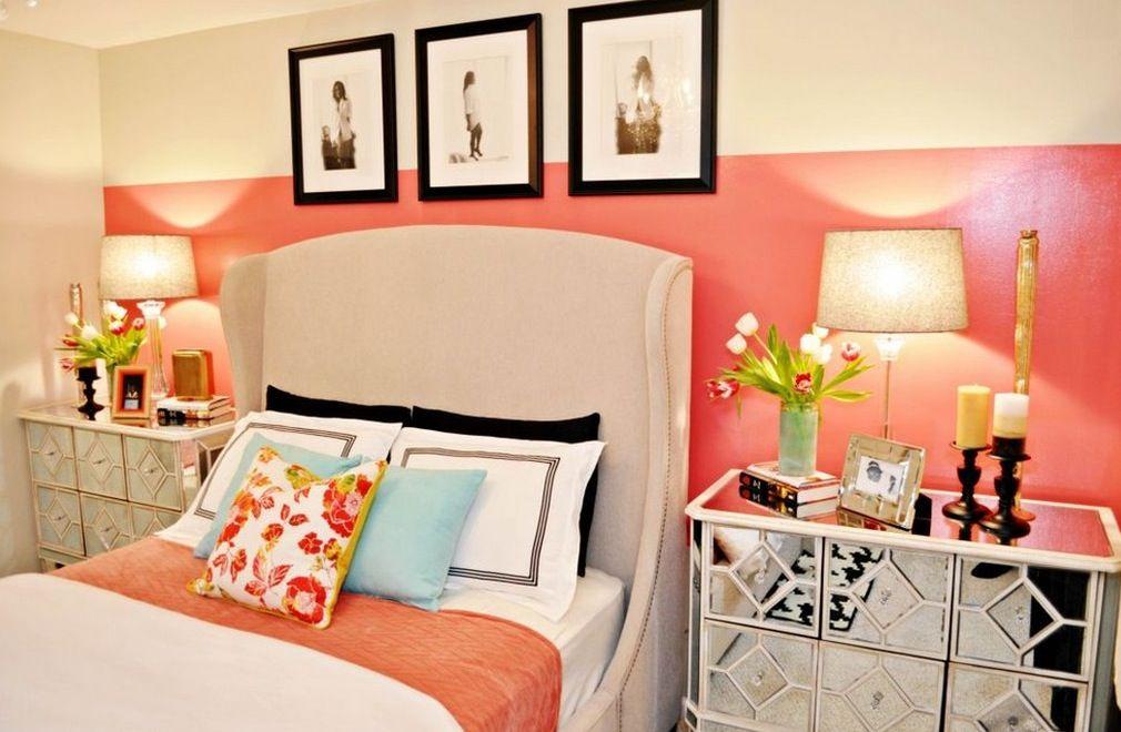 summer color bedroom stripes