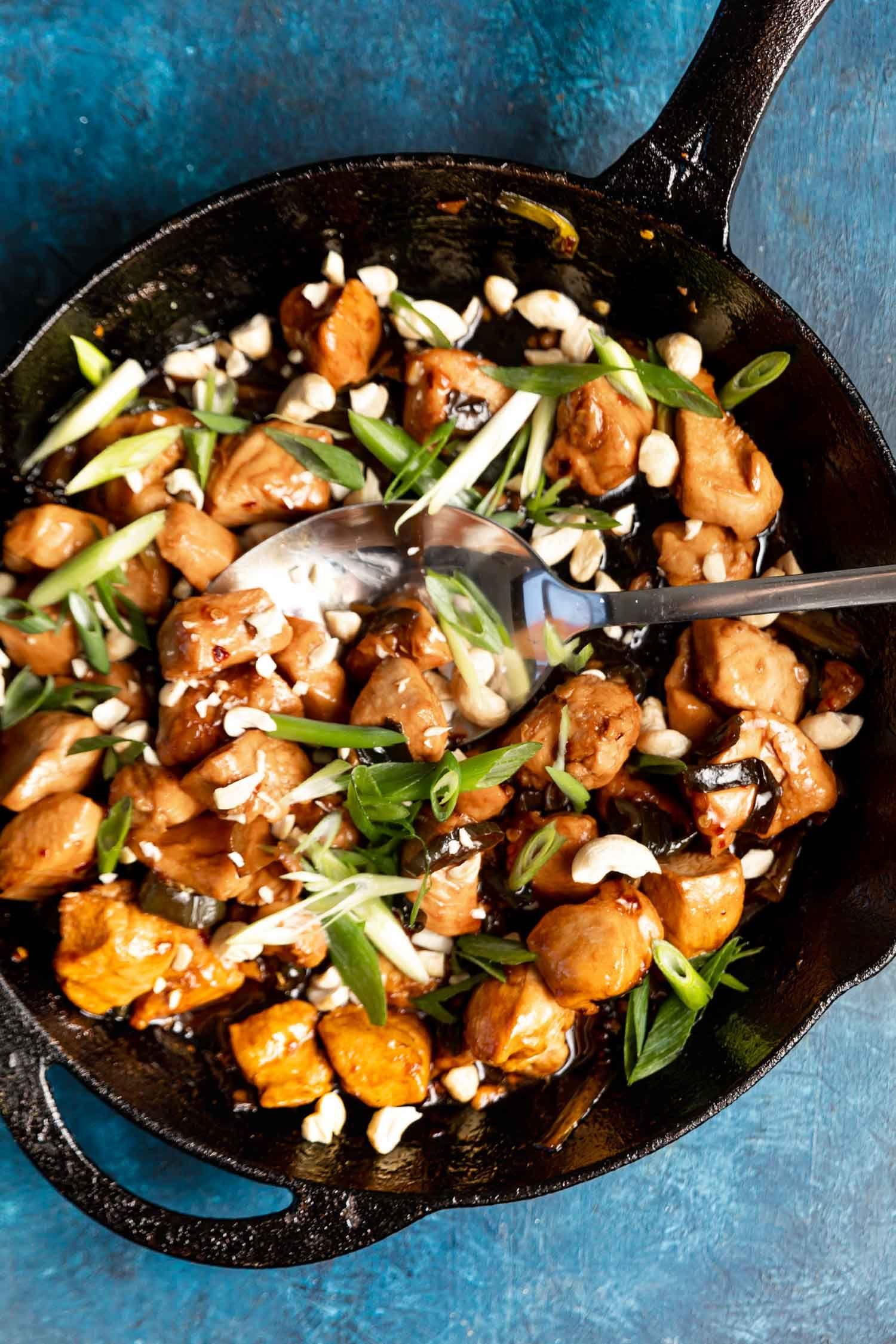 Keto kung pao chicken recipe glutenfree cast iron