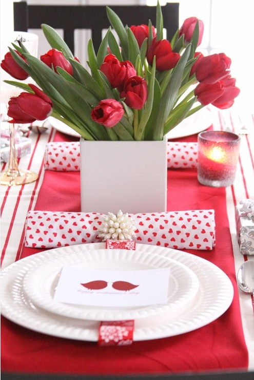 Romantic Valentines Table Setting Tables Apartments and House