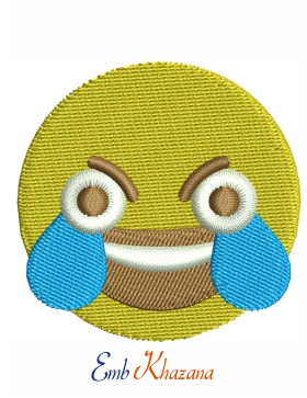 Open Eye Crying Laughing Emoji : crying, laughing, emoji, Crying, Laughing, Emoji, Embroidery, Design, Emoji,, Designs,, Machine